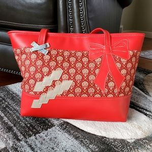 DESIGNS By NEVENA Red Padded Tote (NWOT)